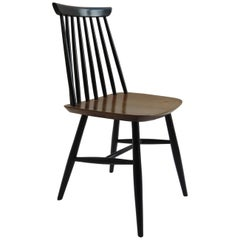 1950s Black and Walnut Dining Chair in the Style of Imari Tapiovaara
