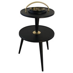 1950s Black Ashtray Stand