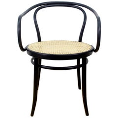 1950s Black Bentwood Armchair by Ton, Czechoslovakia