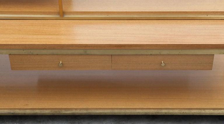 American 1950s Bleached Mahogany Shelf by Paul McCobb For Sale