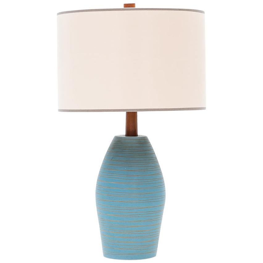 1950s Blue and Beige Table Lamp by Jane & Gordon Martz 'F'