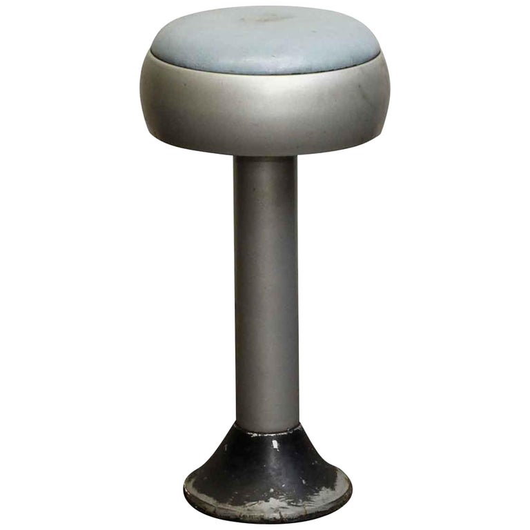 1950s Blue And Silver Vintage Diner Stool From Old Forge Pa For At 1stdibs