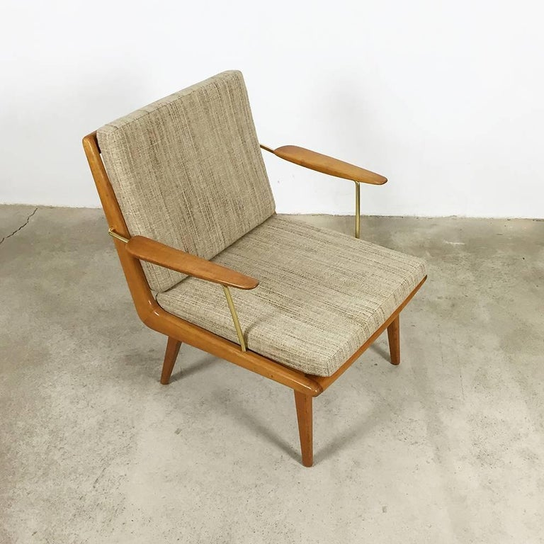 Mid-Century Modern 1950s Boomerang Easy Chair by Hans Mitzlaff for Eugen Schmidt, Soloform, Germany For Sale