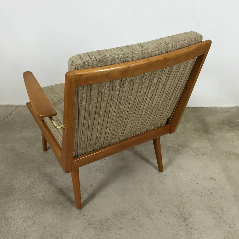 1950s Boomerang Easy Chair by Hans Mitzlaff for Eugen Schmidt, Soloform, Germany In Good Condition For Sale In Kirchlengern, DE