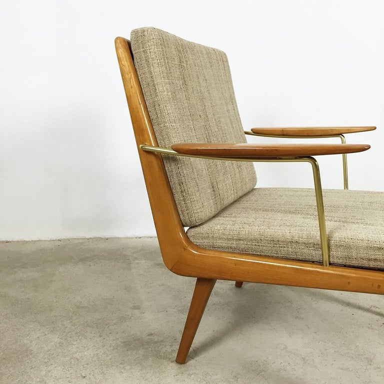 20th Century 1950s Boomerang Easy Chair by Hans Mitzlaff for Eugen Schmidt, Soloform, Germany For Sale