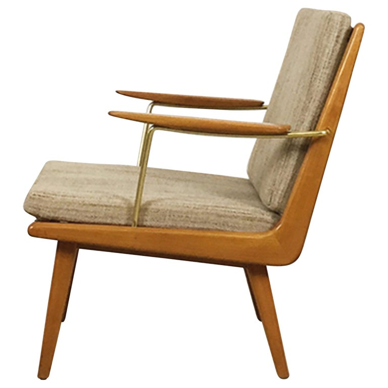 1950s Boomerang Easy Chair by Hans Mitzlaff for Eugen Schmidt, Soloform, Germany For Sale
