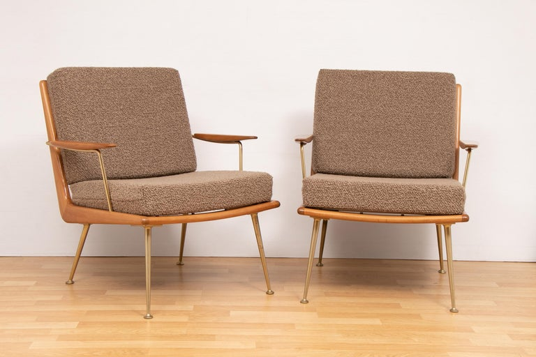 1950s Boomerang Sofa & 2 Easy Chairs by Hans Mitzlaff for Soloform, Germany For Sale 1