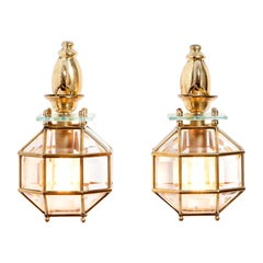 1950s Brass and Glass Sconces Attributed by Pietro Chiesa