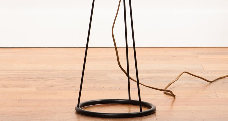 1950s, Brass and Metal Floor Lamp by Falkenbergs Belysning, Denmark For Sale 5
