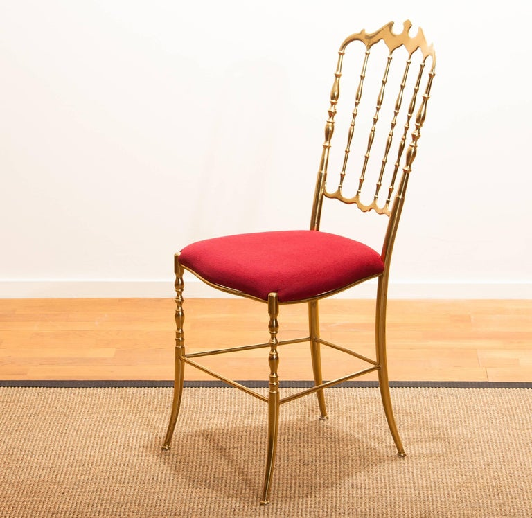1950s, Brass Chair by Chiavari Italy In Excellent Condition For Sale In Silvolde, Gelderland