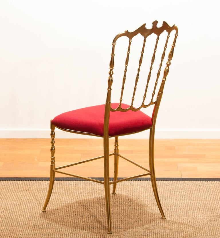 1950s, Brass Chair by Chiavari Italy For Sale 1