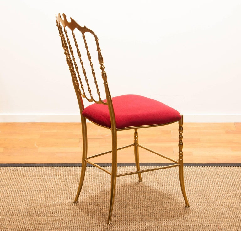1950s, Brass Chair by Chiavari Italy For Sale 3
