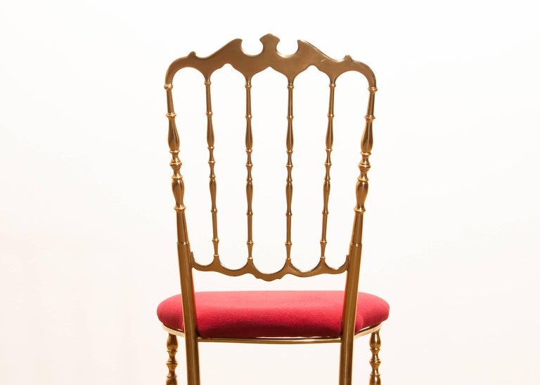 1950s, Brass Chair by Chiavari Italy For Sale 4