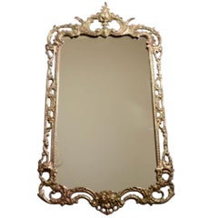1950s Brass Frame Mirror, Spain