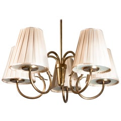 1950s Brass Pendant Light Designed by Gunnel Nymanfor Idman Oy, Finland