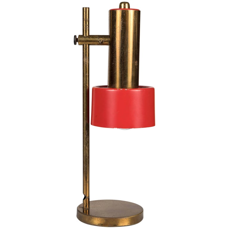 Metal 1950s Brass Table Lamp by Casey Fantin For Sale