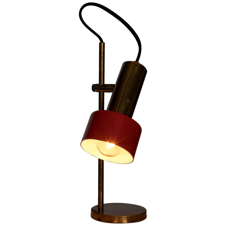 1950s Brass Table Lamp by Casey Fantin For Sale
