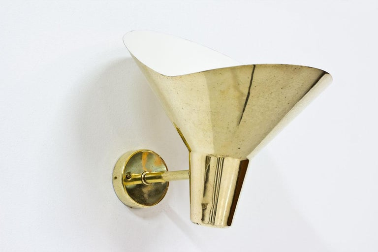 1950s Brass Wall Lamps by Hans Bergström, Sweden In Good Condition For Sale In Stockholm, SE