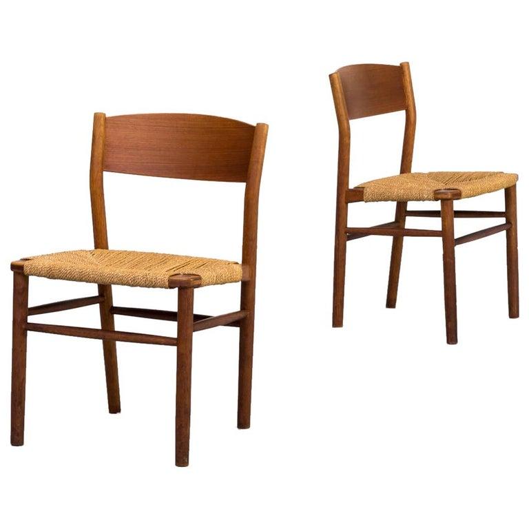 1950s Børge Mogensen 'model 157' Chair for Søborg Møbler Set of 2 For Sale
