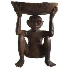 1950s Bronze Monkey Bowl