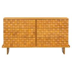 1950s Brown Ash Cabinet by Paul Laszlo 'd'