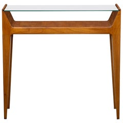 1950s Brown Cherrywood Console by Gio Ponti 'a'