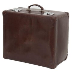 1950s Brown Globe Trotter Half Trunk