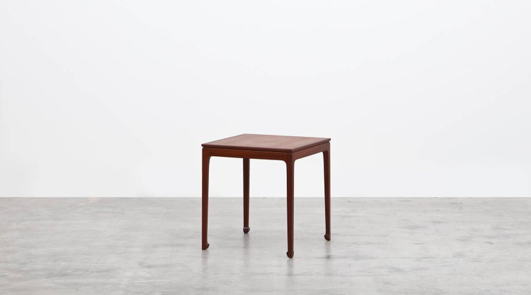 Mid-Century Modern 1950s Brown Mahogany Set of Side Tables by Ole Wanscher For Sale