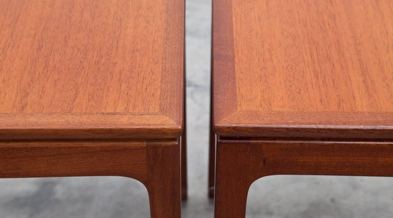 Danish 1950s Brown Mahogany Set of Side Tables by Ole Wanscher For Sale