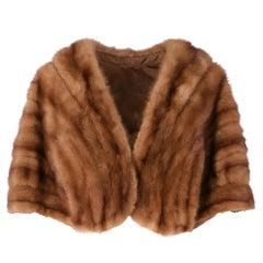1950s Brown Mink Fur Cape