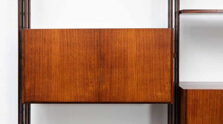 1950s Brown Teak and Aluminum Library by Franco Albini 'h' In Excellent Condition For Sale In Frankfurt, Hessen, DE