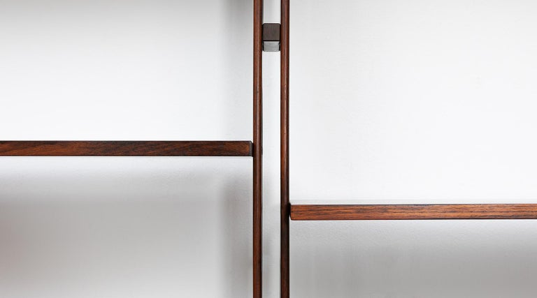 1950s Brown Teak and Aluminum Library by Franco Albini 'h' For Sale 5