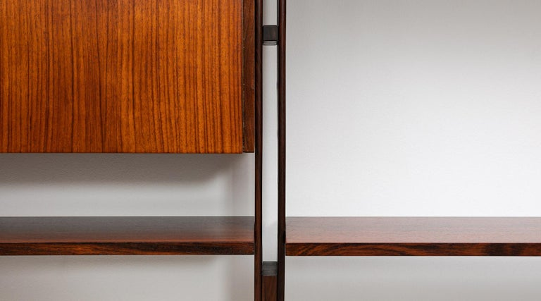 1950s Brown Teak and Aluminum Library by Franco Albini 'h' For Sale 6