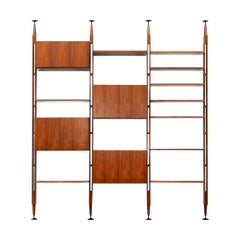1950s Brown Teak and Aluminum Library by Franco Albini 'i'