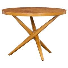 1950s Brown Walnut Side Table by T.H. Robsjohn-Gibbings 'e'
