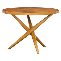 1950s Brown Walnut Side Table by T.H. Robsjohn-Gibbings 'f'