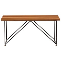1950s Brown Wooden Coffee Table by Rinaldi Gastone