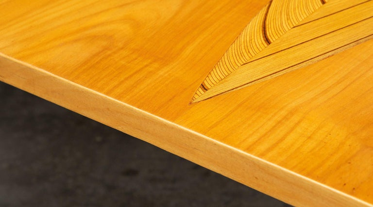 1950s Brown Wooden Coffee Table by Tapio Wirkkala 'd' For Sale 3