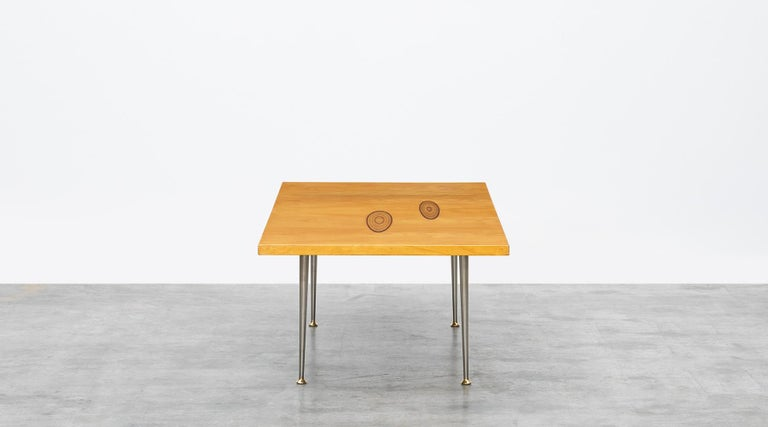Finnish 1950s Brown Wooden Coffee Table by Tapio Wirkkala 'd' For Sale