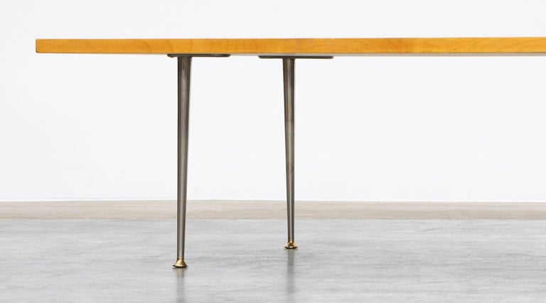 1950s Brown Wooden Coffee Table by Tapio Wirkkala 'd' For Sale 1