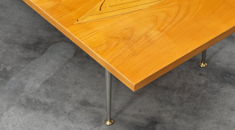 1950s Brown Wooden Coffee Table by Tapio Wirkkala 'd' For Sale 2
