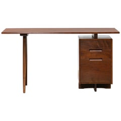 1950s Brown Wooden Desk by George Nakashima 'e'