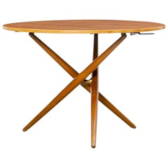 1950s Brown Wooden Eat and Tea Table by Jürg Bally 'n'