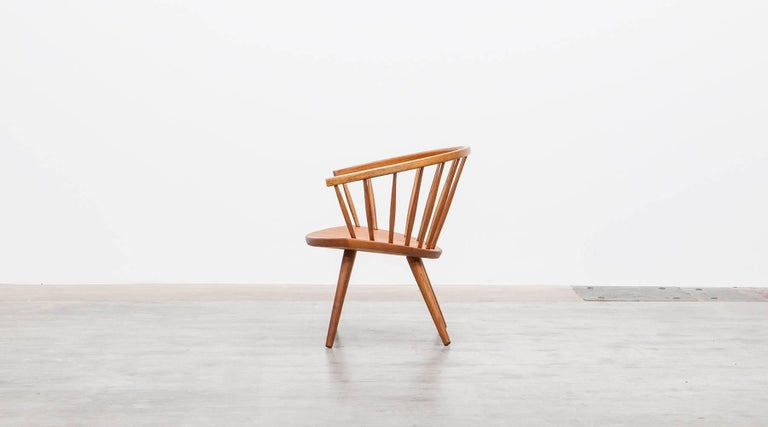1950s Brown Wooden Oak Pair of Lounge Chairs by Yngve Ekström In Excellent Condition For Sale In Frankfurt, Hessen, DE