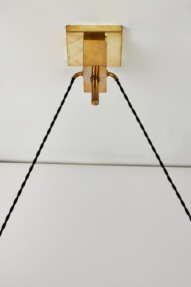 1950s Bruno Chiarini Double Pendant Suspension Lamp for Stilnovo For Sale 3