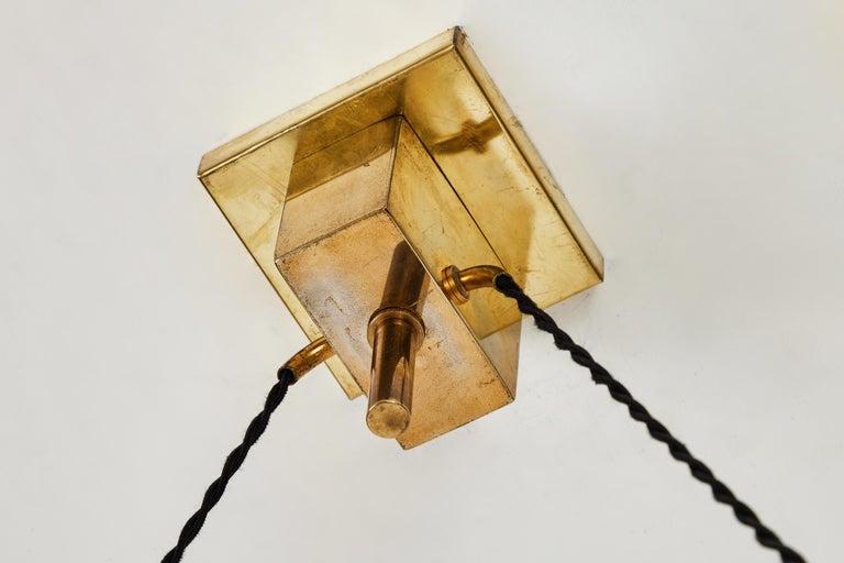 1950s Bruno Chiarini Double Pendant Suspension Lamp for Stilnovo For Sale 4