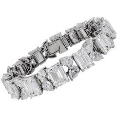 1950s Bulgari Diamond Gold Bracelet