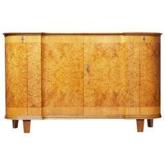1950s Burr Elm Scandinavian Modern Sideboard