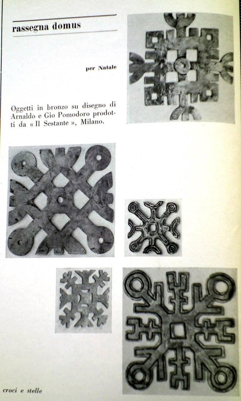 1950s by Arnaldo Gio Pomodoro Il Sestante Italian Midcentury Bronze Sculptures For Sale 3