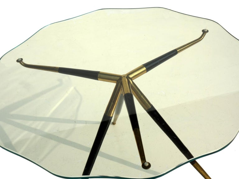 Mid-Century Modern 1950s by Cesare Lacca Italian Design Midcentury Coffee Table For Sale